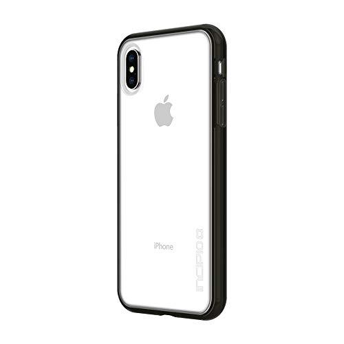 Incipio Octane Pure Schutzhülle für Apple iPhone Xs Max - schwarz [Extrem Robust I Integrierter Bumper I Transparent I Hybrid I Qi kompatibel] - IPH-1761-BLK