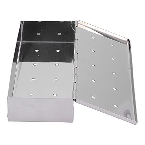 Eulbevoli Smoker Box, Grill Box Lock Type Button Design für Grillpartys für Haushaltsküchen