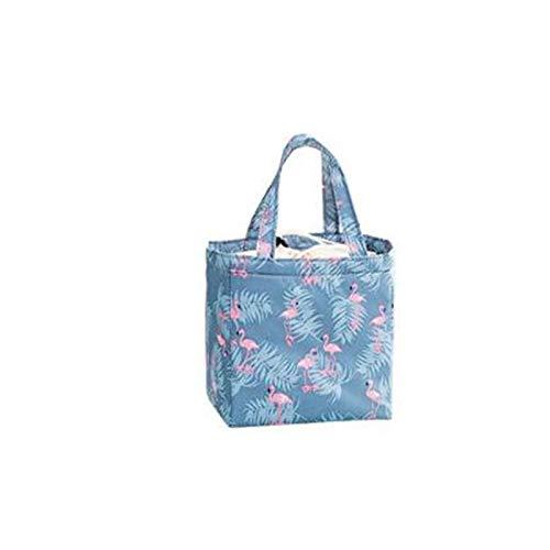 Isolation fraîche Balles Froides Thermique Oxford Lunch Bag Imperméable Pratique Sac de Loisirs Mignon Flamingo Cactus Fourre-Tout 1 PC Flamingo