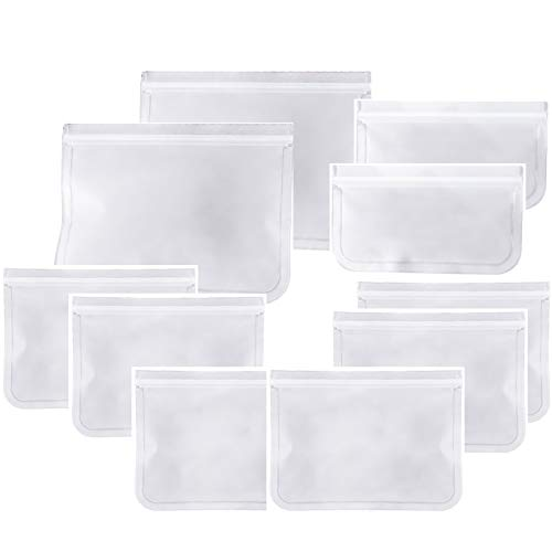 ALIHONG 10 Pieces Refrigerator Food Storage Bags Fruit and Vegetable Sealed Bags Reusable Fresh-keeping Bags for Food Travel Home Organization