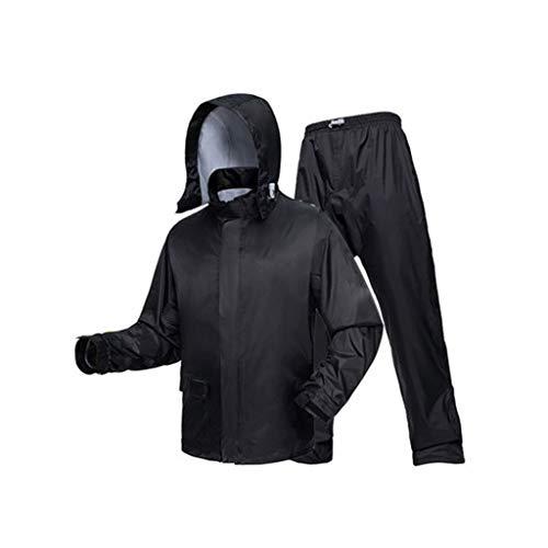 XIANWEI Split Pantalon De Pluie Imperméable Ensemble, Vêtements Imperméables Imperméable (Color : Color Crystal Black, Size : L)