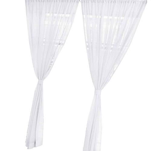 Level Fest Farbe Hochzeit Organdy Haus-Dekor-Tür-Fenster Tüll Voile drapieren bloßer Bunter Vorhang