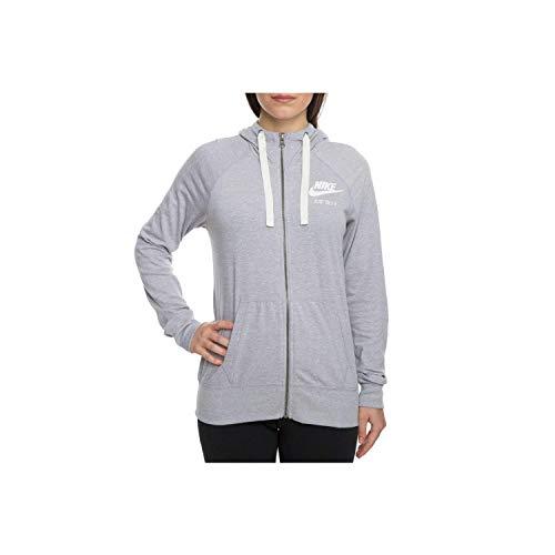 Nike Gym Vintage Damen Sweatshirt Hoodie (Atmosphere Grey/Sail, XS)