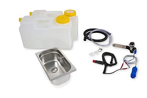 12 Volt Barwig Chrom Wasserversorgung Miniküche Küchenblock Reiseküche Wohnmobil Bus VW T3 T4 T5 265x160x100 mm 12 Liter Raumsparkanister(ad-ideen)