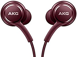 Samsung Earphones Corded Tuned by AKG (Galaxy S8 and S8+ Inbox replacement), Burgundy