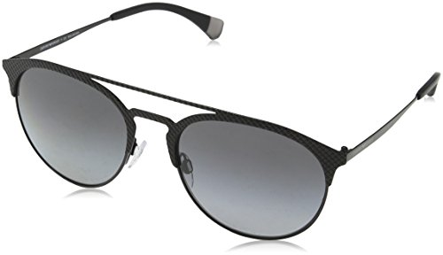 Emporio Armani 0ea2052 56 Gafas de sol, Matte Black/Black 3014T3, Unisex-Adulto