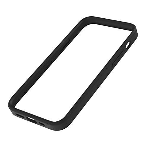 Simplism シンプリズム iPhone 12 / 12 Pro [ALINE] 衝撃吸収 バンパーケース クラリーノ スムースブラック TR-IP20M-BC-SMBK