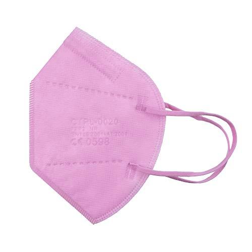 Media Sanex 25 Stück Atemschutzmaske FFP2 Mundschutz Maske perfekt für Mund- und Nasenschutz Schutzmaske Atemschutzmaske 5-lagig CE Zertifiziert einzeln verpackt verschiedene Farben (Light Pink)
