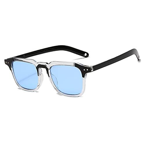 Gafas de Sol Moda Cool Square Tint Ocean Gafas De Sol Mujeres Vintage Espejo Clásico Marco Grueso Sun Glasse Diseñador De La Marca Uv400 C7