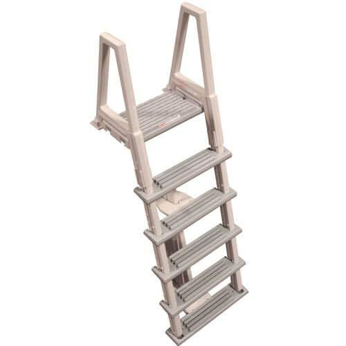 Confer Plastics Above Ground Flip Up In-Frame Pool Ladder