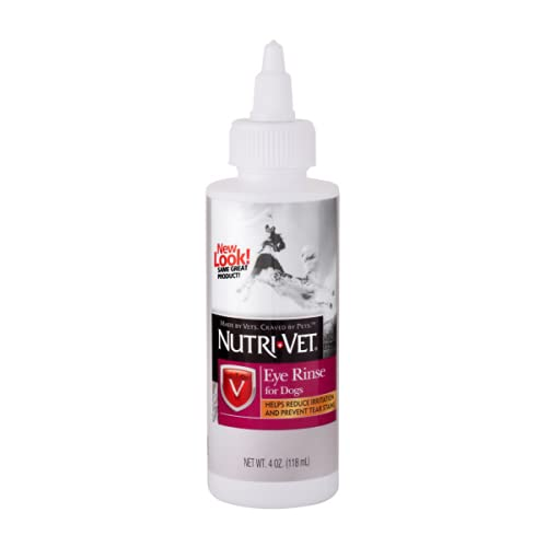 Nutri-Vet Eye Rinse for Dogs | Boric Acid Reduces Eye Irritation and Removes Debris | Soothes Seasonal Allergies and Prevents Tear Stains