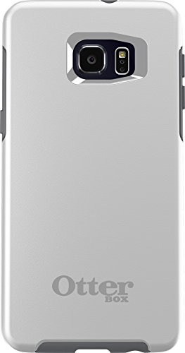 OtterBox SYMMETRY SERIES Case for Samsung Galaxy S6 EDGE+ - Retail Packaging - GLACIER (WHITE/GUNMETAL GREY)