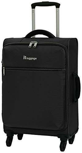 Suitcase The LITE 4 Wheel Soft Cabin Black