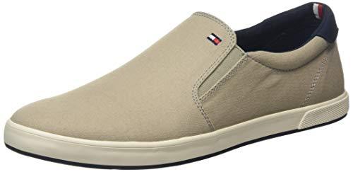 Tommy Hilfiger Herren Iconic Slip ON Sneaker, Beige (Stone Aep), 43 EU