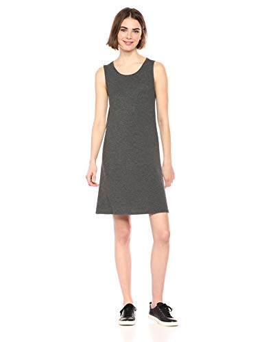 Amazon Essentials Women's Tank Swing Dress, Charcoal Heather, S