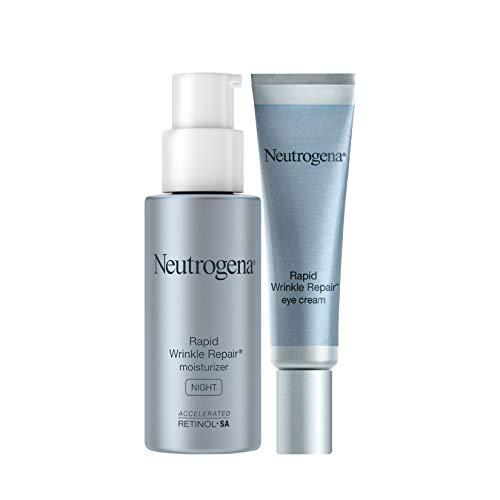 Neutrogena Rapid Wrinkle Repair Anti-Wrinkle Retinol Under Eye Cream for Dark Circles & Under Eye Bags - Wrinkle Eye Cream with Hyaluronic Acid, Glycerin & Retinol Cream, 0.5 Fl Oz