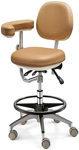 GJNVBDZSF Dental Chair Microscope Saddle Stool Foot Controlled/Pedal Base PU Leather for Clinic Dentist Spa Massage Medical Salons Studio