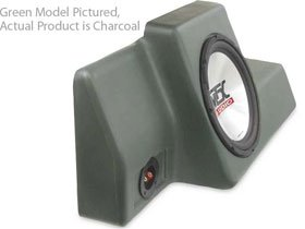 "MTX Thunderform Custom Subwoofer Enclosure for Ford RANGER Reg Cab 1998-2011 Loaded w 10"" Sub (CHARCOAL)"