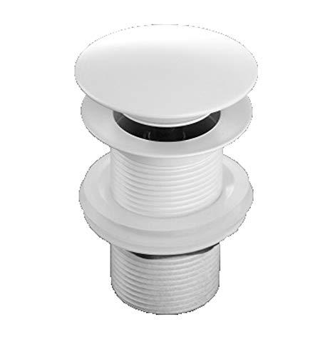 Grünblatt Weiss Ablaufgarnitur Pop Up Ventil für den Waschtisch Waschbecken ohne Überlauf (weiß)