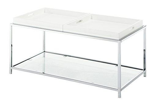 Convenience Concepts Palm Beach tavolino, Bianco