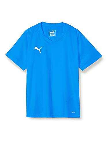 PUMA Kinder Liga Core Jersey, Electric Blue Lemonade/White, 128