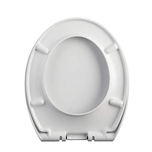 Dongyd Asiento del Inodoro Tapa del Inodoro Universal En Forma De O Urea Formaldehído Colgante Mudo Montado En La Parte Superior Fácil De Instalar Asiento De WC Engrosado for Uso Familiar