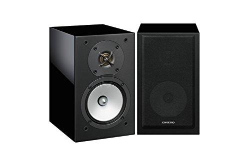 Onkyo D-175B Zweiwege-Bassreflex-Lautsprecher (120 Watt, detailreicher Sound mit kräftigem Bass bei 65 Hz-100 kHz Frequenzbereich, für Heimkino, HiFi Anlage, Wohnzimmer) Schwarz