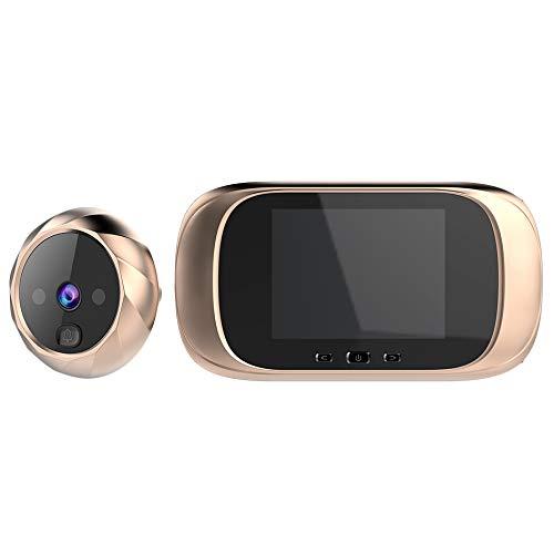 Tiamu 2.8 Pulgadas LCD Pantalla una Color Timbre de la Puerta Digital Mirilla Electrónica Visión Nocturna Sensor de Movimiento Puerta Visor de la Cámara Dorado