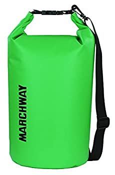 Floating Waterproof Dry Bag 5L/10L/20L/30L/40L Roll Top Dry Sack for Marine Kayaking Rafting Boating Surfing Swimming Camping Hiking Beach Fishing Skiing Snowboarding Mountaineering  Green 10L