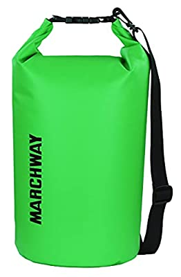 Floating Waterproof Dry Bag 5L/10L/20L/30L/40L, Roll Top Dry Sack for Marine Kayaking Rafting Boating Surfing Swimming Camping Hiking Beach Fishing Skiing Snowboarding Mountaineering (Green, 10L)