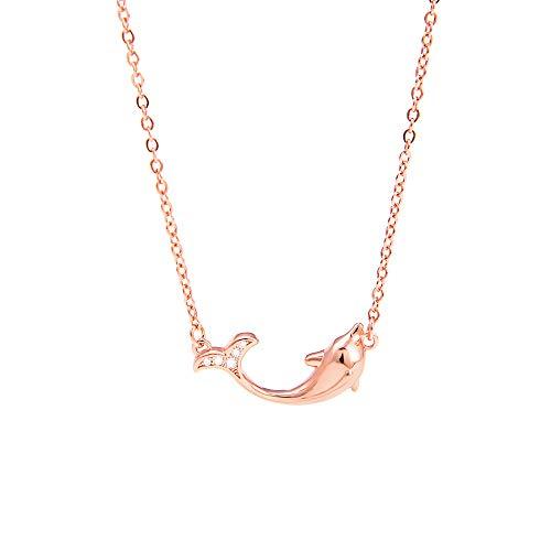Dolfijn Ketting Zeemeermin Schuim Rose Gouden Collarchain Dames Accessoires