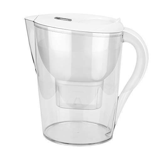 3.5L Pure Water Filter Pitcher, White Drinking Water Purifier Filtration Jug Kettle, 4-Layer Filtration for Chlorine, Lead, Heavy Metals and Sediments, BPA-Free