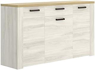 HABITMOBEL Mueble Aparador 3 Puertas Buffet para Cocina y Comedor Medidas: 150cm (Largo) x 40 cm (Fondo) x 88 cm (Alto)