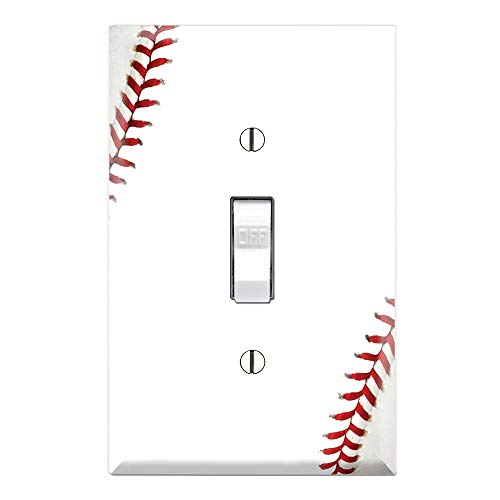 Single Toggle Wall Switch Cover Plate Decor Wallplate - Baseball