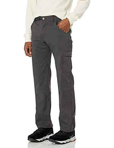prAna Men's Standard Stretch Zion Pant, Charcoal, 32W x 30L