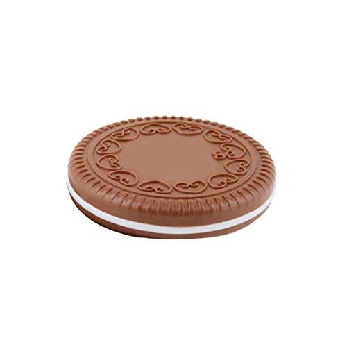 Maquillage Miroir Miroir en forme de biscuit avec peigne maquillage portable cosmétiques Miroirs outil pour les filles des femmes