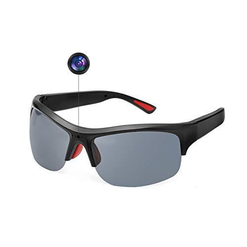 OuShiun Camera Sunglasses HD Video Recording Smart Glasses Polarized UV400 Protection 1080P Outdoor Sport Traveling (Black)