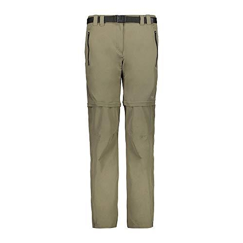 CMP Pantaloni Zip-off Stretch 38t5116, Donna, Kaki, 50