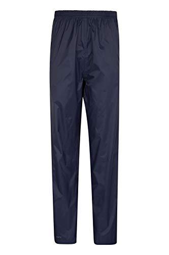 Mountain Warehouse Pakka Wasserfeste Überhose für Damen - Transportbeutel, atmungsaktive Regenhose, Klettverschluss am Hosenbein - Für nasses Wetter & Frühling Marineblau 52