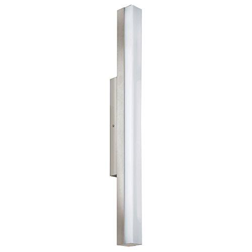 EGLO TORRETTA Spiegelleuchte, Stahl, Integriert, 16 W, Länge 60 cm, nickel-matt
