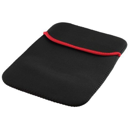Tablet PC bzw. Notebook Tasche Schutz Hülle Hülle Sleeve Etui schwarz-rot passend für Xoro Pad 900 (500-10-ne-swrt)