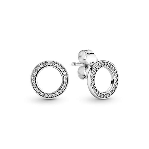 Pandora Jewelry Forever Pandora Cubic Zirconia Earrings in Sterling Silver
