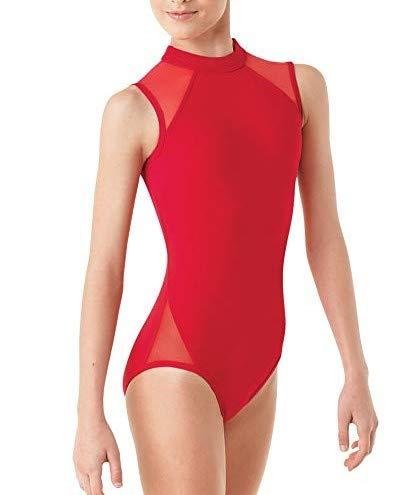Freebily Maillot de Danza Ballet Gimnasia Leotardo Body Clásico Mallas Elástico para Niña Mayor Jumpsuit Gym Básico Niños 5-14 Años Rojo 5-6 Años