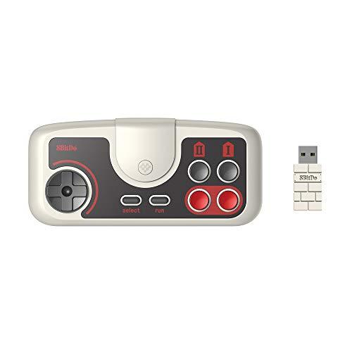 8Bitdo PCE 2.4G Wireless Game Controller Gamepad for PC Engine Mini, PC Engine CoreGrafx Mini, TurboGrafx-16 Mini & Nintendo Switch (PCE Edition)