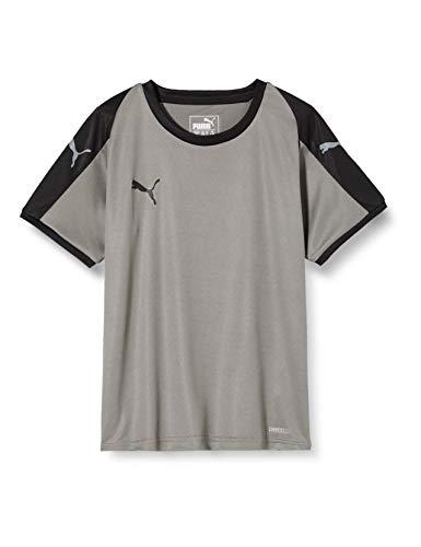 PUMA Liga Jr T-Shirt Enfant Acier Gris/Puma Noir FR : Taille Unique (Taille Fabricant : 164)