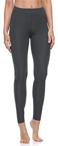 Merry Style Damen Lange Leggings aus Baumwolle MS10-198 (Grau, L)