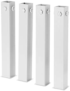 DormCo Suprima Ultimate Height Bed Risers - Carbon Steel - White