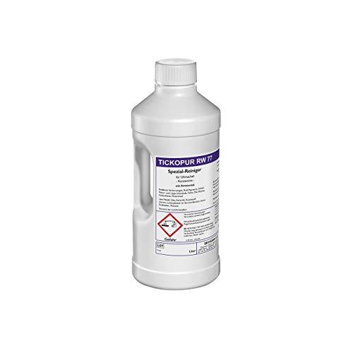 Tickopur RW77 (2 liter), Ultraschallflüssigkeit für Leiterplatten, Uhren und vieles mehr! | Reinigungskonzentrat mit Dosierung von 5 Prozent, Ultraschall Reinigungsmittel mit pH 9,9, schwach alkalisch