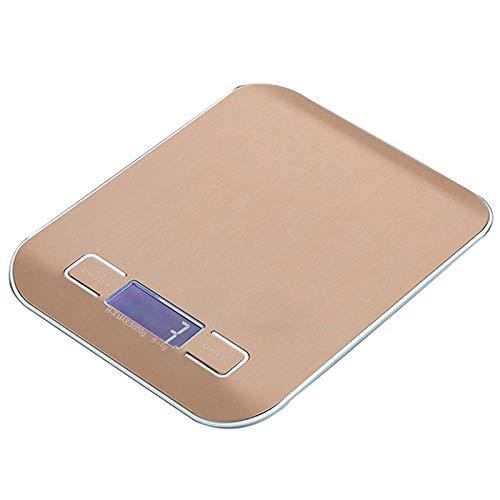 SODIAL BáScula de Pesaje Digital de Acero Inoxidable de 5 Kg, BáScula de Cocina, Dieta de Alimentos, Herramienta de MedicióN de Equilibrio Postal, BáSculas ElectróNicas LCD