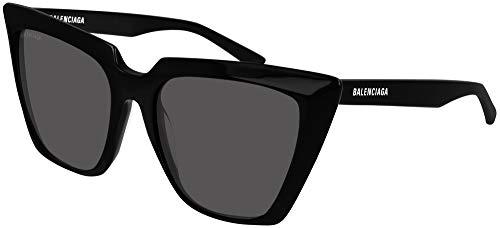 Balenciaga Gafas de Sol BB0046S Black/Grey 55/18/140 mujer